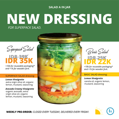 SUPERPACK Salad in A Jar 4x (Langganan)