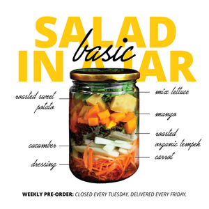 BASIC Salad in A Jar 4x (Langganan)