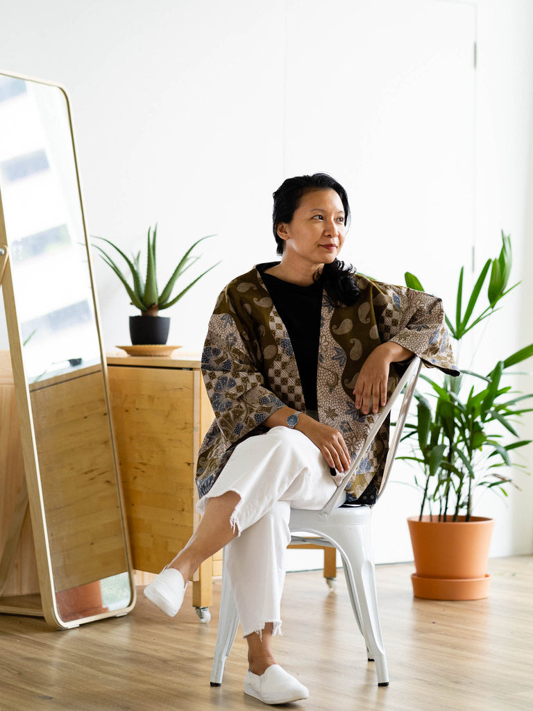 Batik and handwoven textiles and fashion accessories from Singapore ethical designer Gypsied