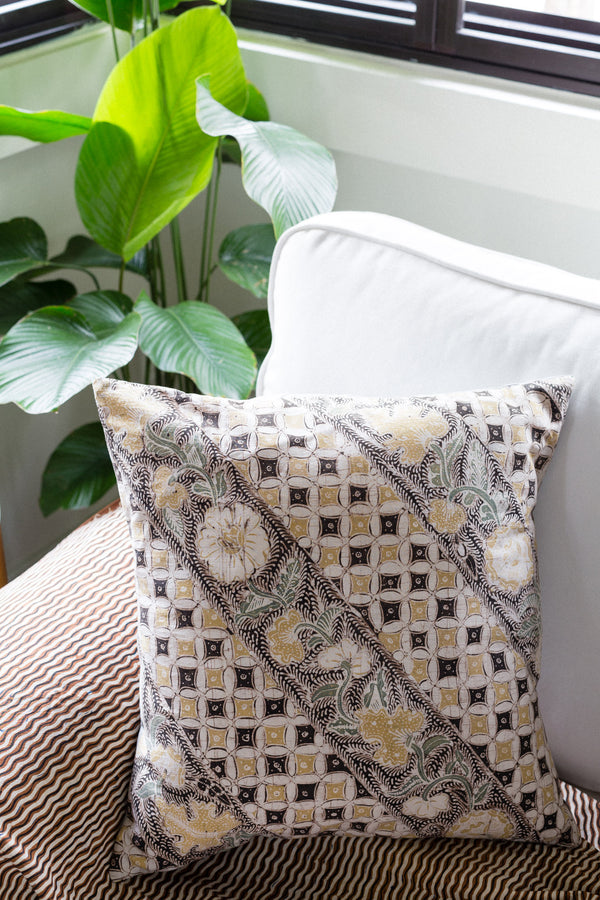 Batik Aura Pillow and home decor from Singapore ethical designer Gypsied