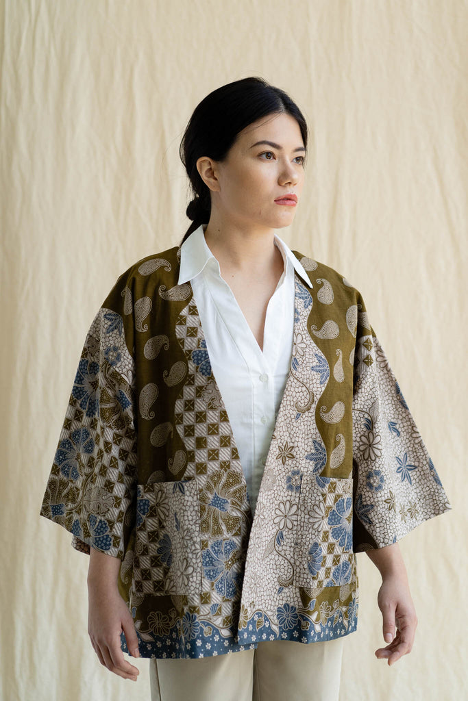 Batik Open Jacket | Uma from Singapore ethical designer Gypsied