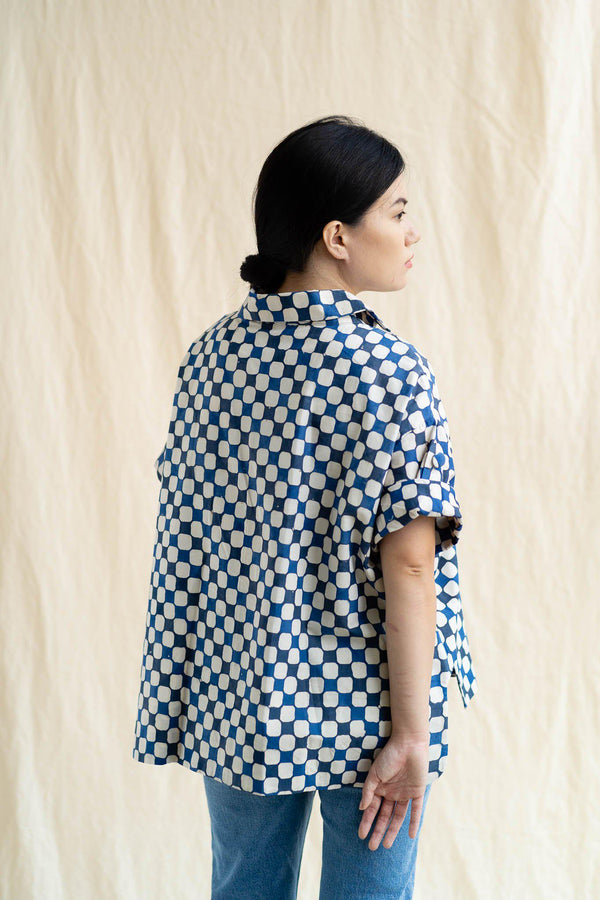Cocoon Shirt | Indigo Picnic (Final Piece)