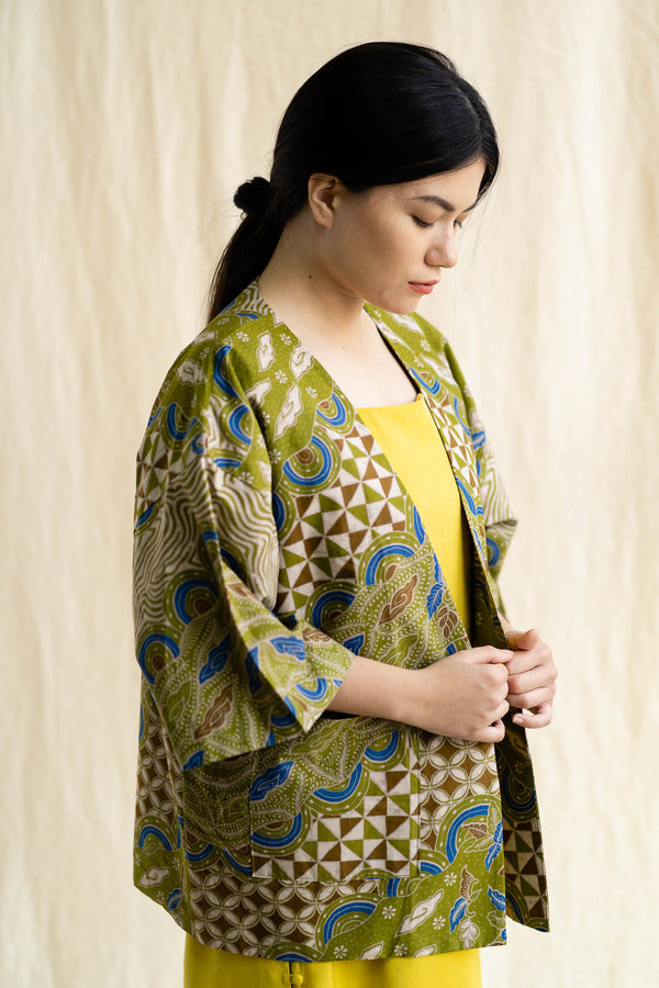 Batik Open Jacket | Maya from Singapore ethical designer Gypsied
