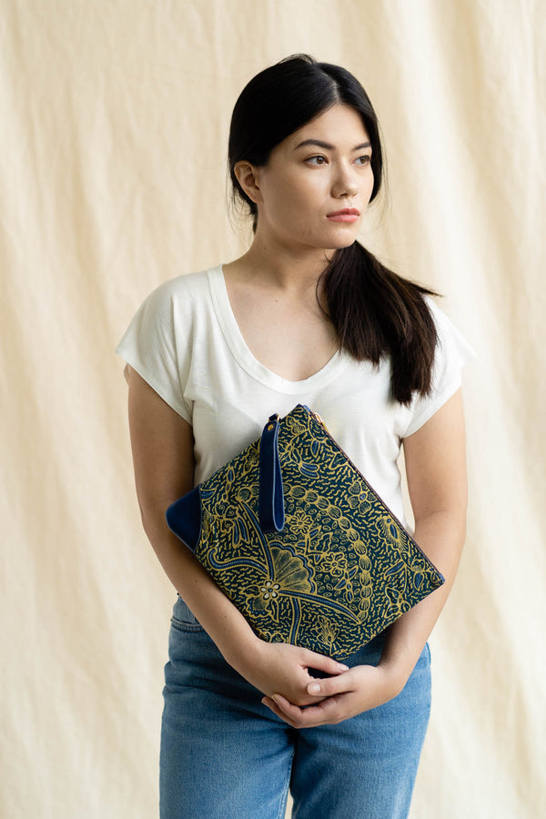 Batik Signature Clutch | Saujana-Singapore ethical designer Gypsied