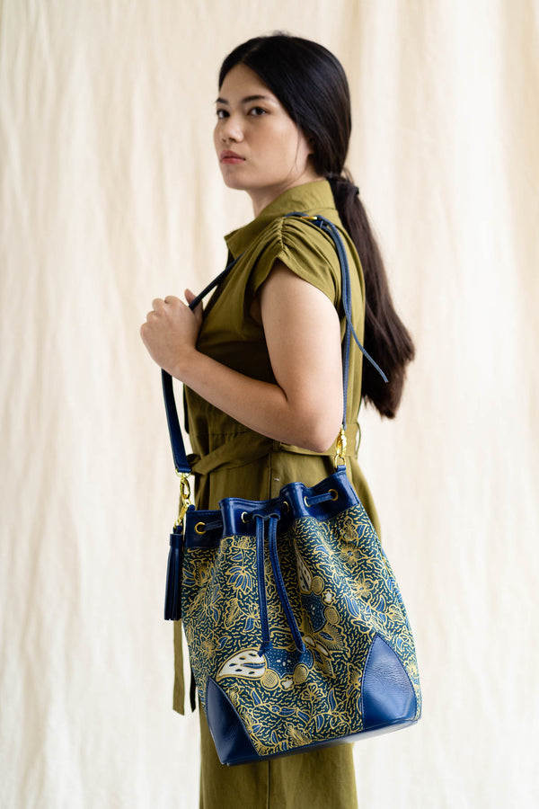 Batik Bucket Bag | Saujana-Singapore ethical designer Gypsied