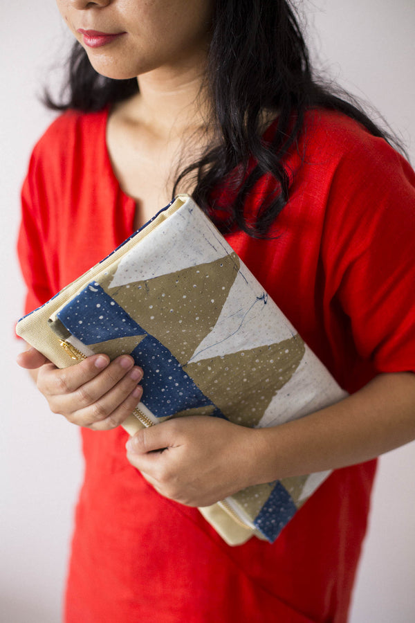 Batik Bambu Clutch from Singapore ethical designer Gypsied