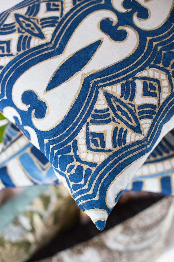 Batik Indigo Asli Pillow and home decor from Singapore ethical designer Gypsied
