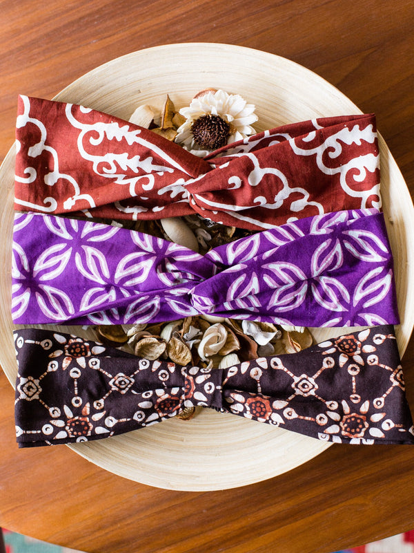 Batik turbands and accessories from Singapore ethical designer Gypsied