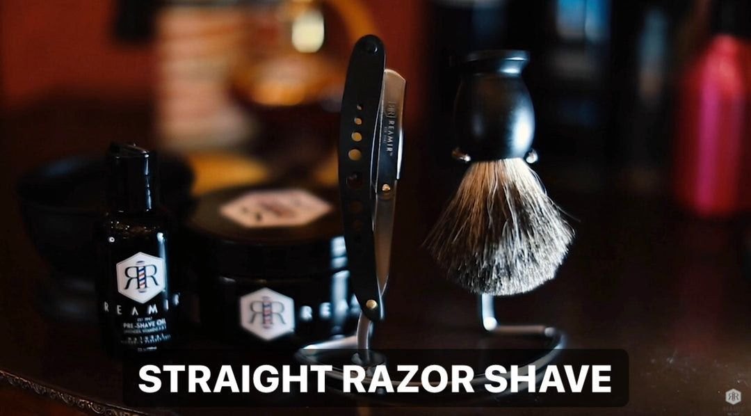 Reamir Straight Razor Shave at NYC Barber Shop Museum by Arthur Rubinoff