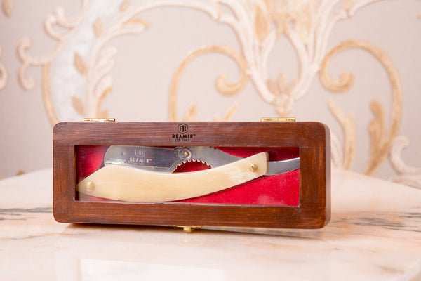 Ivory Wide Handle Straight Razor
