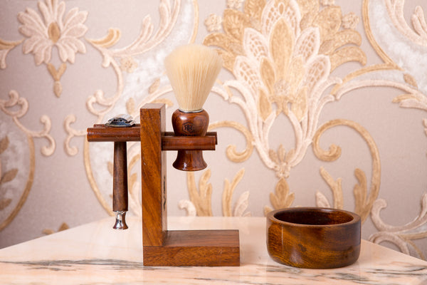 Wooden Shaving Set