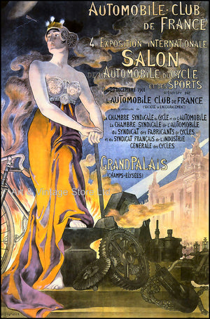 French Transport Poster 1901 - Fine Art Giclée Print