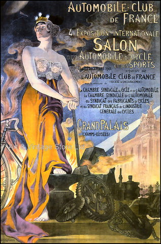 Image of French Transport Poster 1901 - Fine Art Giclée Print