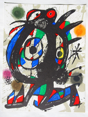 Joan Miró - Original Lithograph 1977