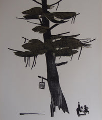 Detlef Willand - Original Woodcut