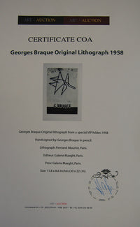 Georges Braque - Hand Signed Vintage Print - Original Lithograph 1959