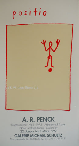 Image of A.R Penck Original Exhibition Poster 1992