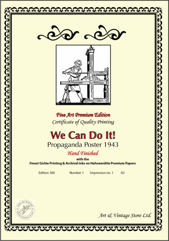 We can do it! Iconic Poster 1943 - Fine Art Giclée Print