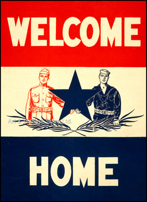 Welcome Home Poster 1918 - Fine Art Giclée Print