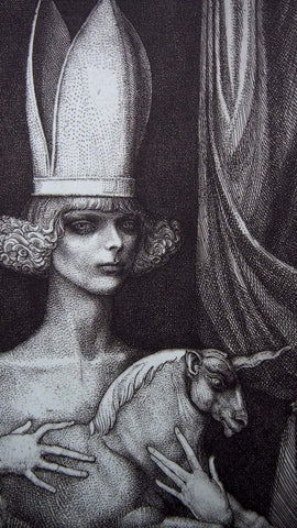 Image of Art & Vintage Store Original Etching Ernst Fuchs Original Limited Edition Etching & Aquatint 1976
