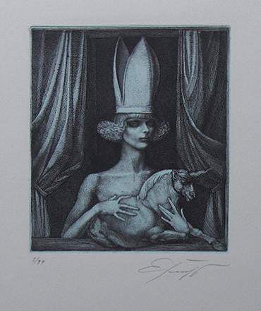 Art & Vintage Store Original Etching Ernst Fuchs Original Limited Edition Etching & Aquatint 1976