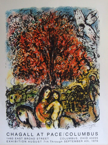 Image of Art & Vintage Store Original Posters Marc Chagall Original Artist Poster 1976