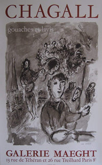 Art & Vintage Store Original Posters Marc Chagall Original Artist Poster 1977
