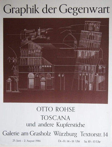 Art & Vintage Store Original Posters Otto Rohse original Artist Poster 1986