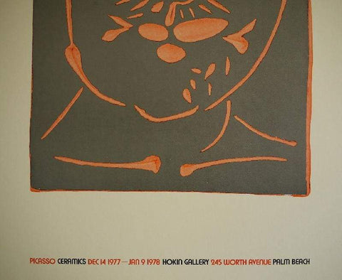 Art & Vintage Store Original Posters Pablo Picasso Original Artist Poster 1977 - Holkin Gallery Palm Beach