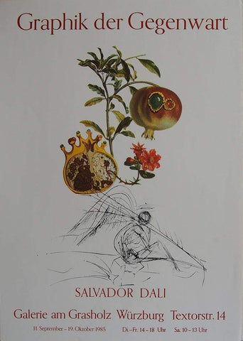 Image of Art & Vintage Store Original Posters Salvador Dali Original Exhibition Poster 1985