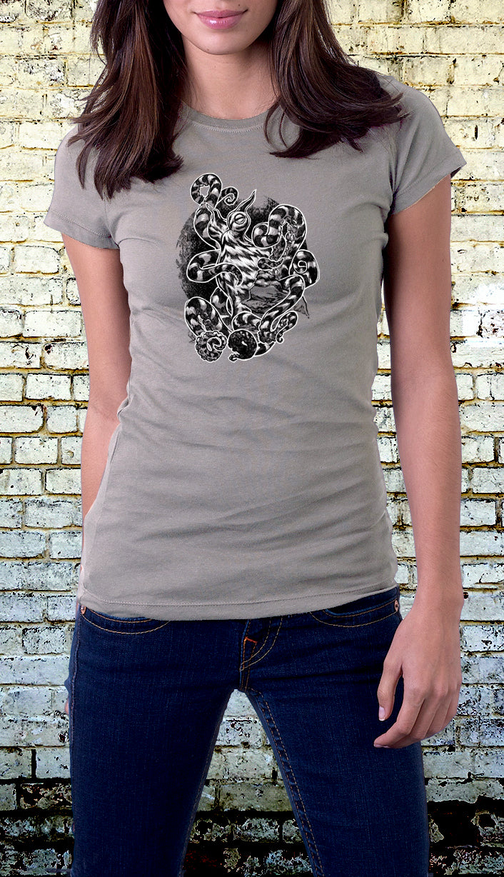 The Mimic Octopus - Short Sleeve T-Shirt With an Octopus