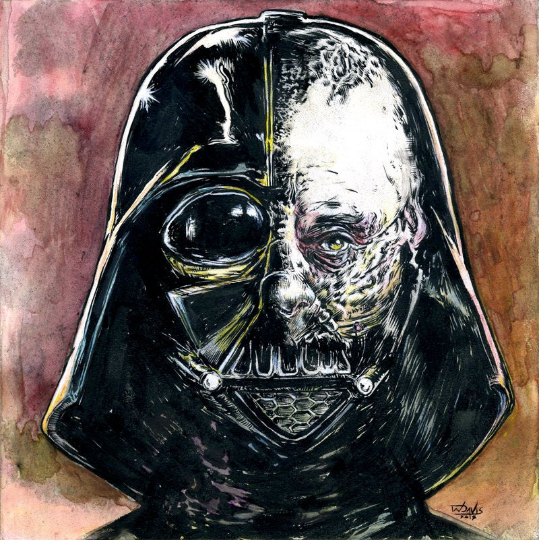 Vader Under the Mask- original fine art