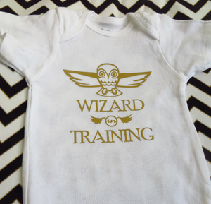 "Onesies: ""Wizard in Training"" Harry Potter Inspired Shirt"