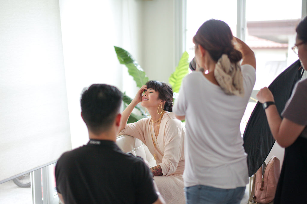 Behind-the-scenes of our 5th Anniversary Collection Look Book Shoot