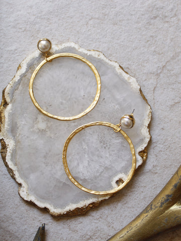 7 - Lena Earrings in Pearl