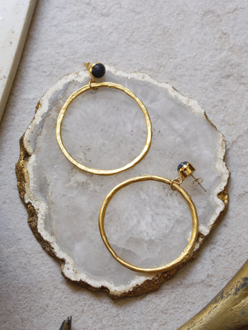 7 - Lena Earrings in Fog