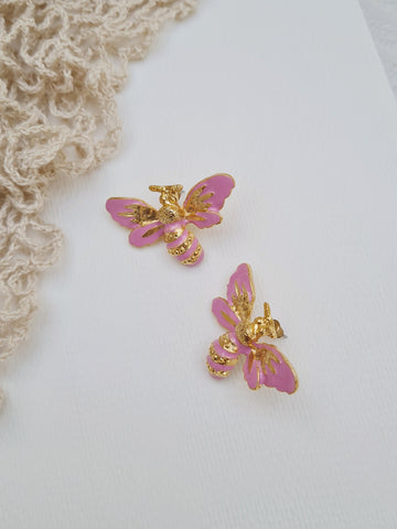 Mood - Audron Earrings in Pink