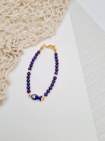 Bracelet Bar - Alese in Navy Blue