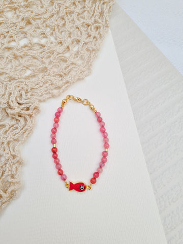 Bracelet Bar - Alese in Pink