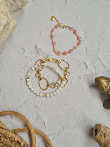 Island Girl Blush - Berry Bracelet Trio