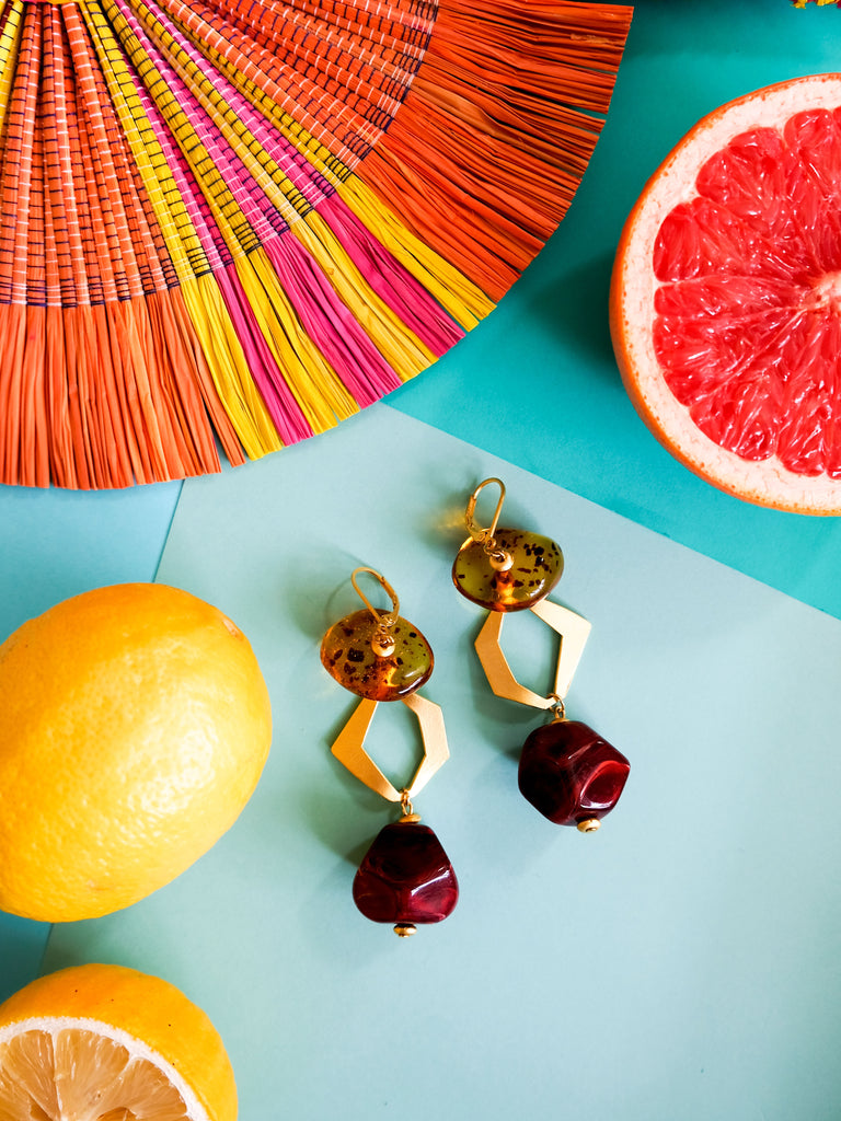 Summer Bounty - Cherry Earrings