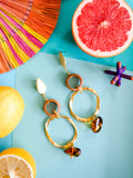 Summer Bounty - Nectarine Earrings