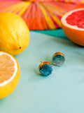 Summer Bounty - Juniper Earrings in Teal