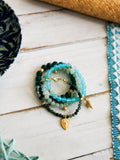 Tropical Greens - Seagrass Bracelet Set