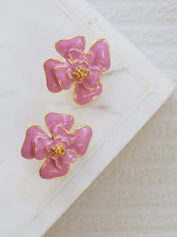 Heyjow x Estee Lauder - Dahlia Earrings in Lilac