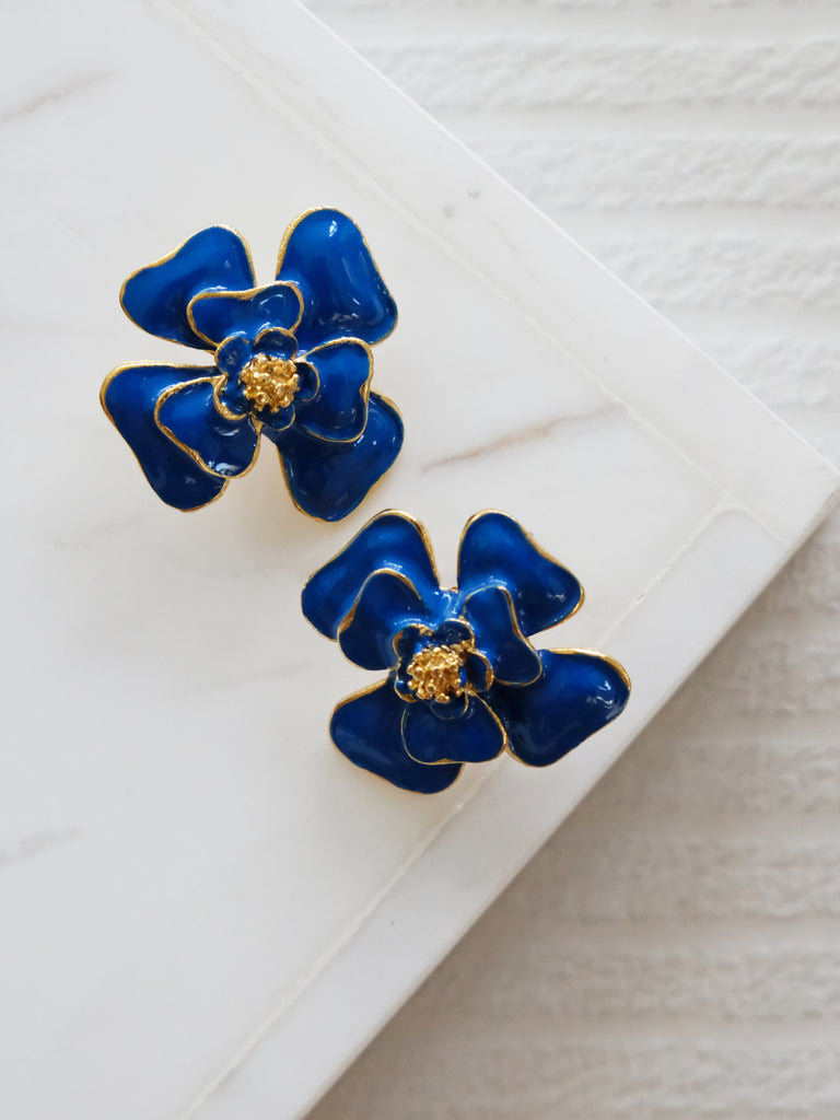 Heyjow x Estee Lauder - Dahlia Earrings in Azure