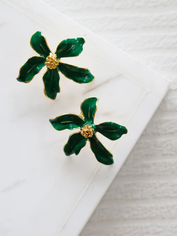 Heyjow x Estee Lauder - Jasmine Earrings in Palm Green