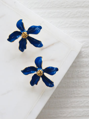 Heyjow x Estee Lauder - Jasmine Earrings in Azure