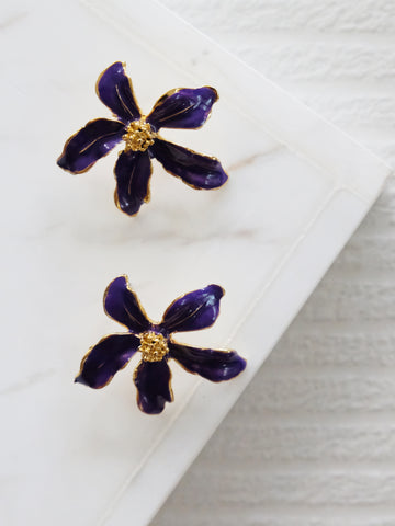 Heyjow x Estee Lauder - Jasmine Earrings in Violet