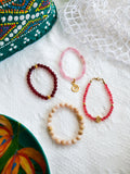 Island Girl Blush - Berry Bracelet Set